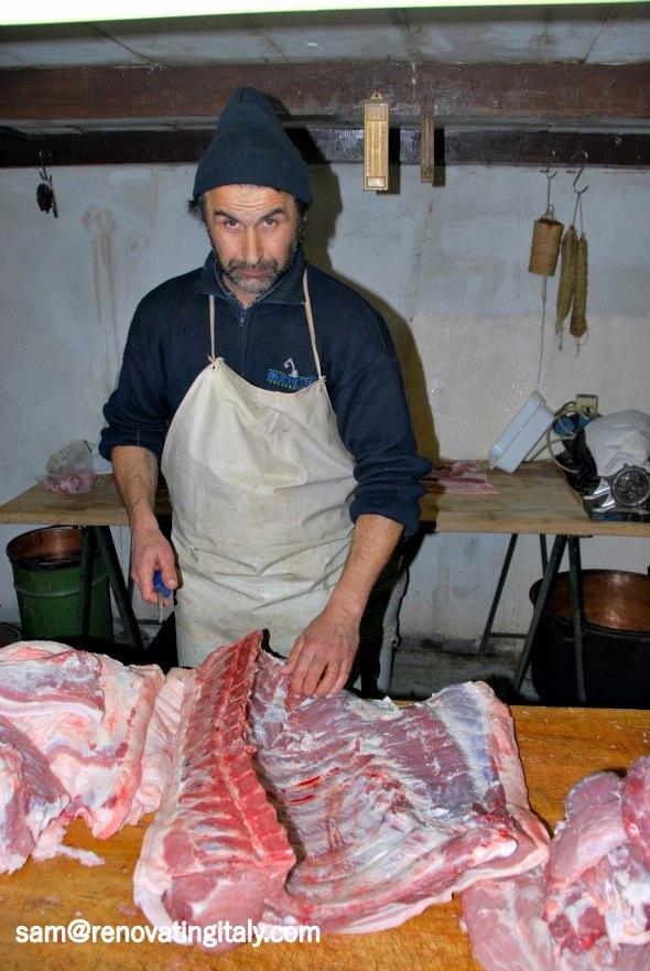 making salami